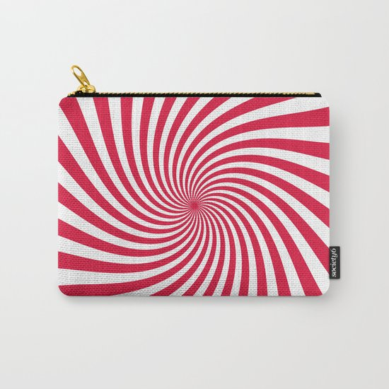 Swirl (Crimson/White) Carry-All Pouch