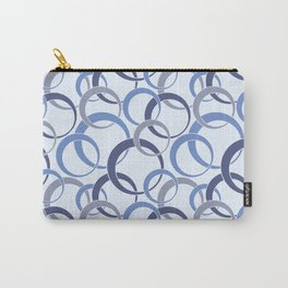 BLUE CIRCLE PATTERN Carry-All Pouch