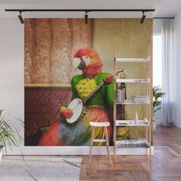 Banjo Birdy Plucks a Pretty Tune! Wall Mural