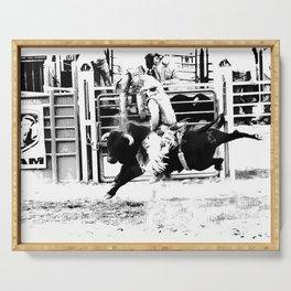 Rodeo Bull Rider Serving Tray