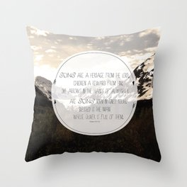 Psalm of Sons Throw Pillow