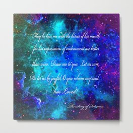 LOVE:  THE SONG OF SOLOMON Metal Print