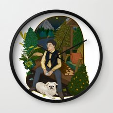 Cabin by the lake  Wall Clock