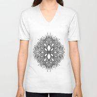 plant V-neck T-shirts featuring plant by Ichsjah