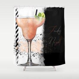 Friday Night - Digital Artwork Shower Curtain
