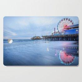 SANTA MONICA PIER SUNSET CALIFORNIA PHOTOGRAPHY Cutting Board