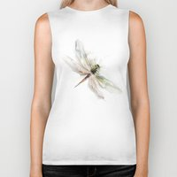 dragonfly Biker Tanks featuring dragonfly by tatiana-teni