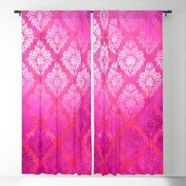"""""""Magenta Pink Damask Pattern"""" Blackout Curtain"""