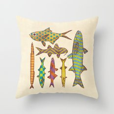 Freshwater Freaks Throw Pillow