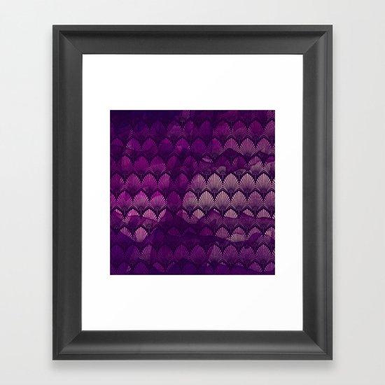 Variations on a Feather II - Purple Haze  Framed Art Print