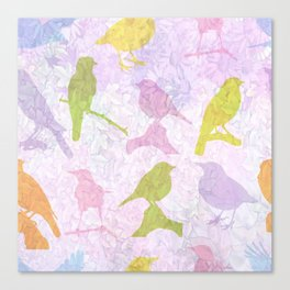 Pastel Birds Canvas Print