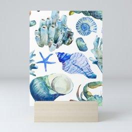 Sea Life Pattern 05 Mini Art Print