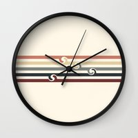 Vintage Beach Wall Clock