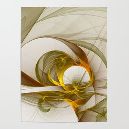 Fractal Art Precious Metals, Abstract Graphic Poster