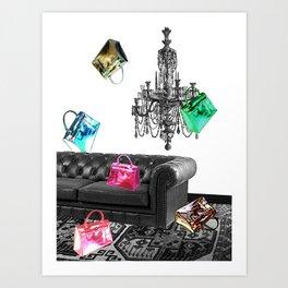 Handbag Party Art Print