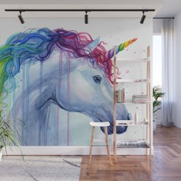 Magical Rainbow Unicorn Wall Mural