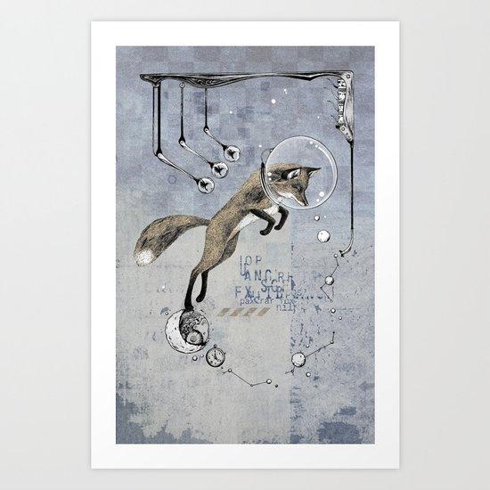 Relativity Fox Trot Art Print