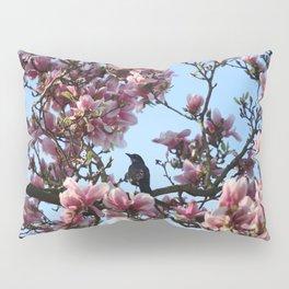 Blackbird Singing In The Magnolia Tree Pillow Sham