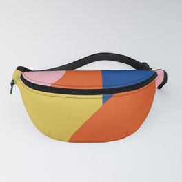 Bold Modern Bauhaus Shapes in Red, Pink, Blue, and Yellow Fanny Pack
