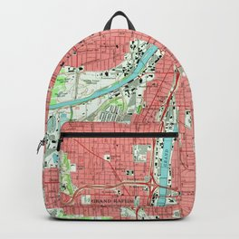 Vintage Map of Grand Rapids Michigan (1967) Backpack