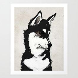 Nico the Husky Art Print