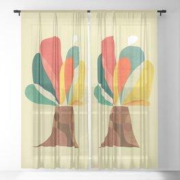 A tree Sheer Curtain