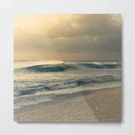 Waves of Light Metal Print