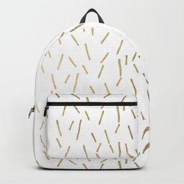 Elegant geometrical faux gold stripes confetti Backpack