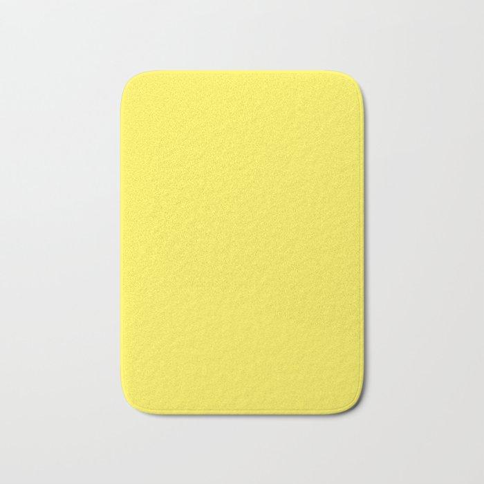 Lemon Yellow Solid Color Bath Mat