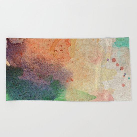 Pastel Color Splash 03 Beach Towel