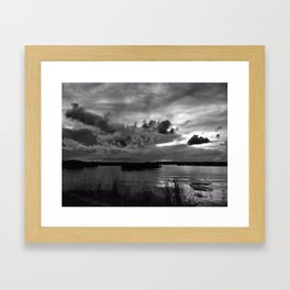 Monochrome Sunset Framed Art Print