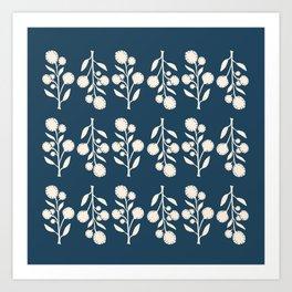 Wildflower - Blue Art Print
