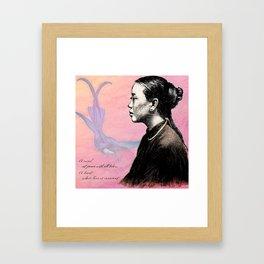 Poetry Girls: China Girl Framed Art Print