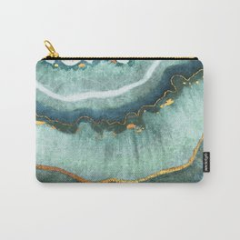 Gold Turquoise Agate Carry-All Pouch