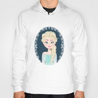 elsa Hoodies featuring Elsa by Joey Ellson