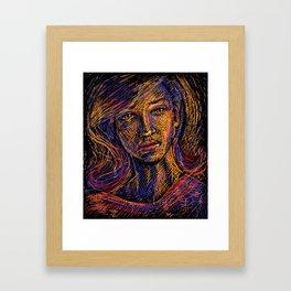 Dawn Etching Framed Art Print