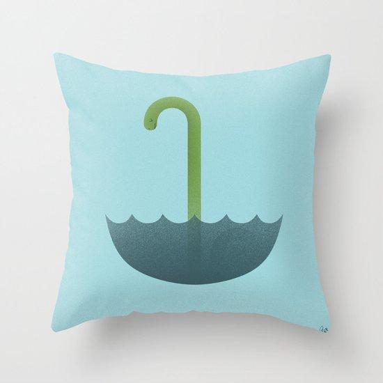 Looks like rain or monster Throw Pillow