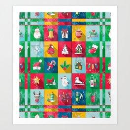 Christmas Calender by Nico Bielow Art Print