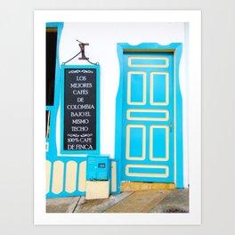 Doors - Blue Art Print