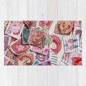 Vintage Red Stamps by jeanladzinski