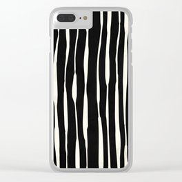 Retro Stripe Clear iPhone Case