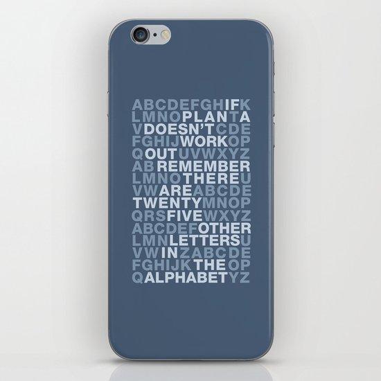Plan A, B, C, D, E.... iPhone & iPod Skin