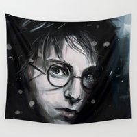 harry Wall Tapestries featuring Harry by LucioL