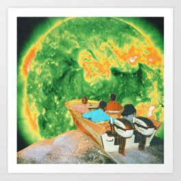 Psychotropic boat Art Print