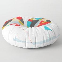 Celebrate Shapes  Floor Pillow