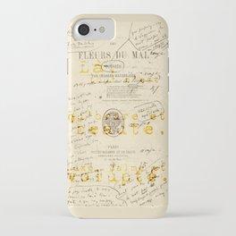 les fleurs du mal l'invitation au voyage iPhone Case