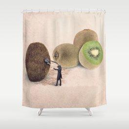 The kiwis hairdresser Shower Curtain