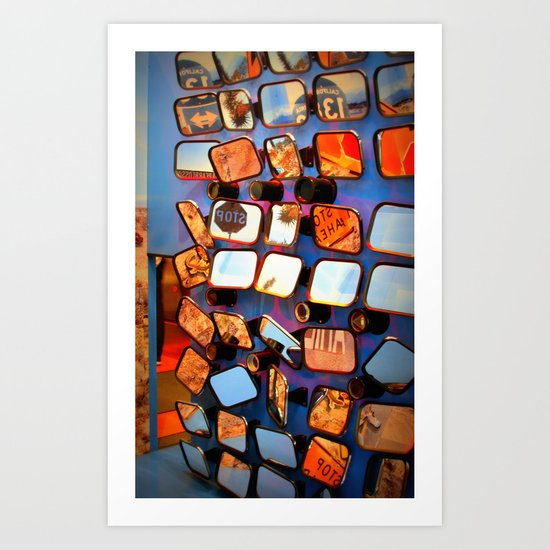 colorful fragments of life Art Print
