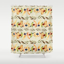 Autumnal Leaves Pattern 1 Shower Curtain