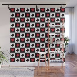 Card Pattern - Red Queen Wall Mural
